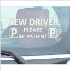 1 x New Driver Please Be Patient-Just Passed-Car Window Sticker-Fun,Self Adhesive Vinyl Sign for Truck,Van,Vehicle